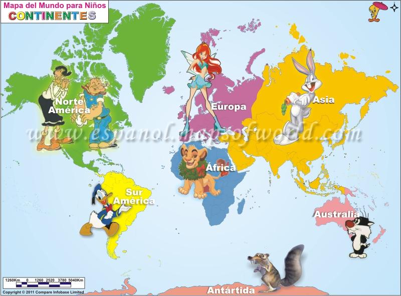 Mapamundi Para Niños Mapa Del Mundo Para Niños