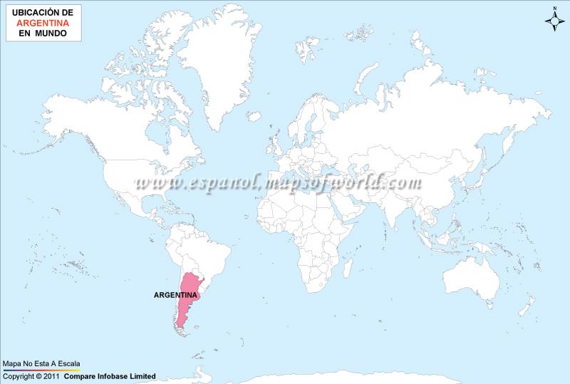 Mapa de Ubicación de Argentina