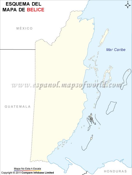 Esquema del Mapa de Belice