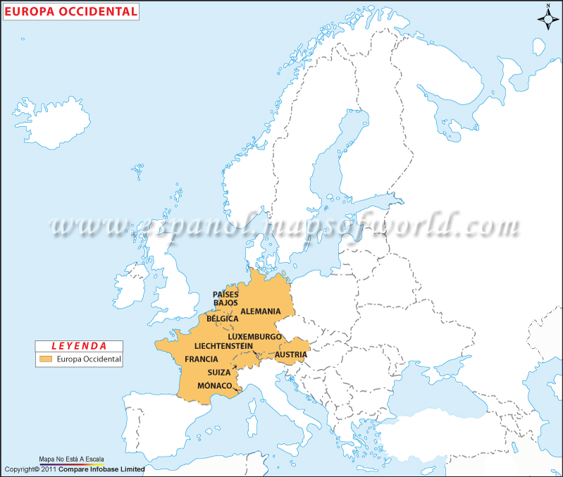 Mapa de Europa Occidental