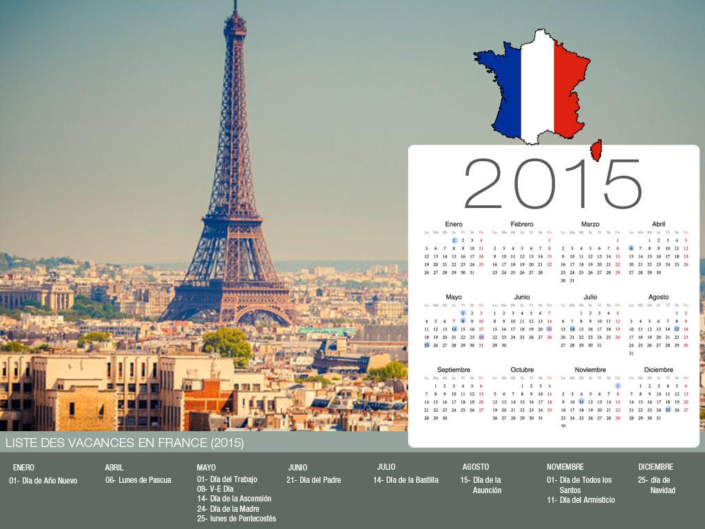 Calendario de vacaciones Francia-800x600