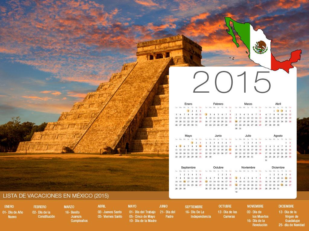 Calendario de vacaciones México-800x600