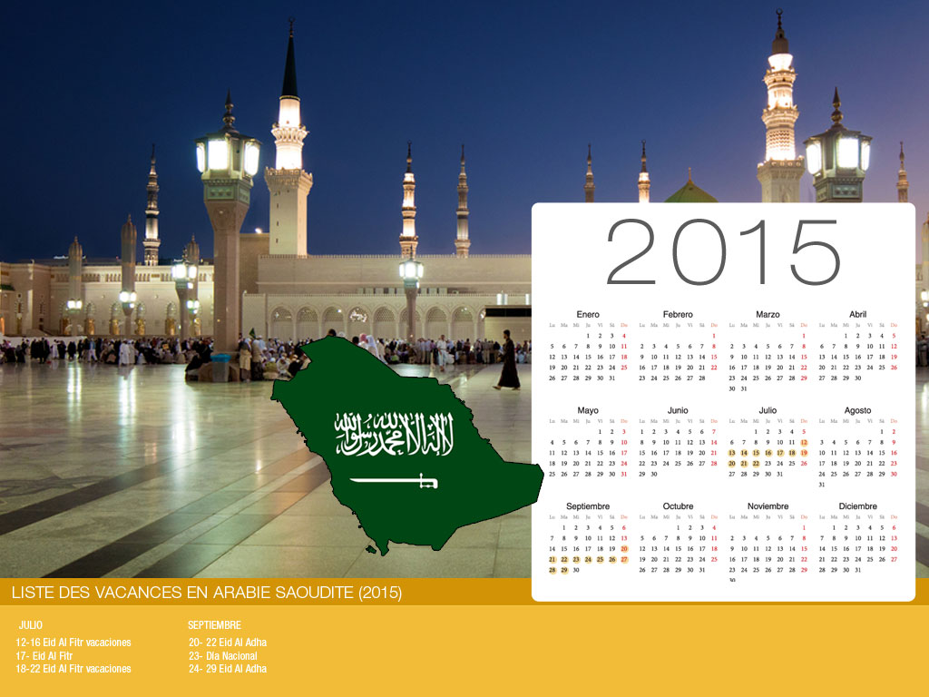 Calendario Arabia Saudí Holiday-800x600