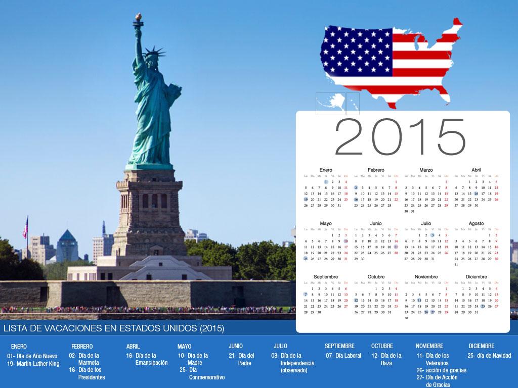 US Holiday Calendar-800x600
