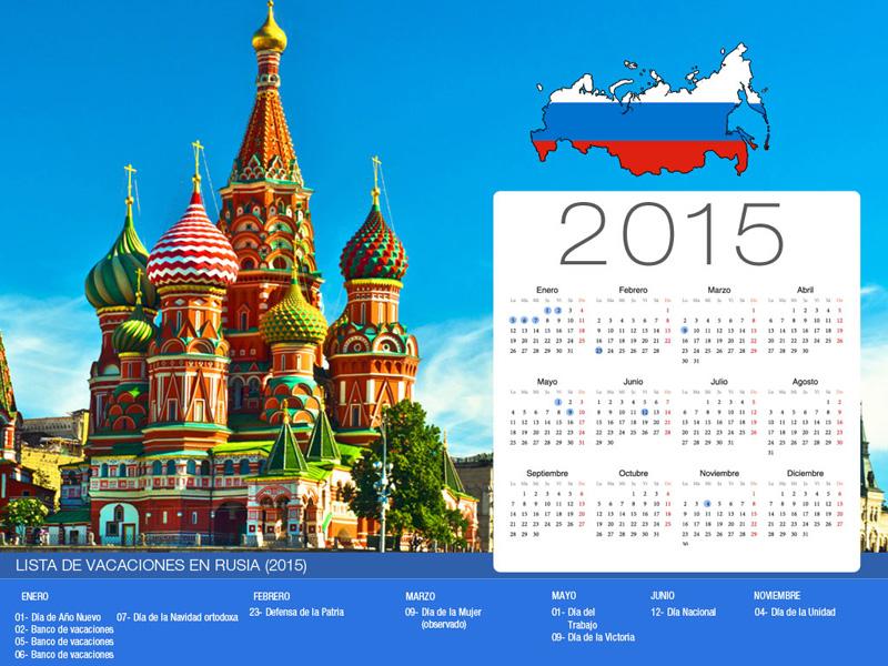 Calendario de vacaciones Rusia-800x600