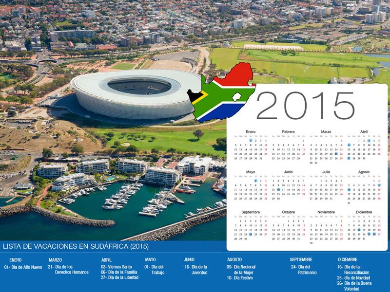 Calendario de vacaciones Sudáfrica-800x600