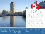 Calendario de vacaciones Canadá 2015