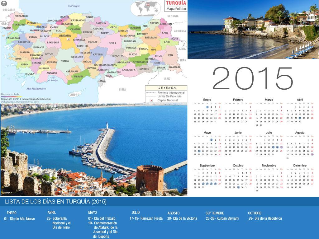 Calendario Turquía Holiday 2015-800x600