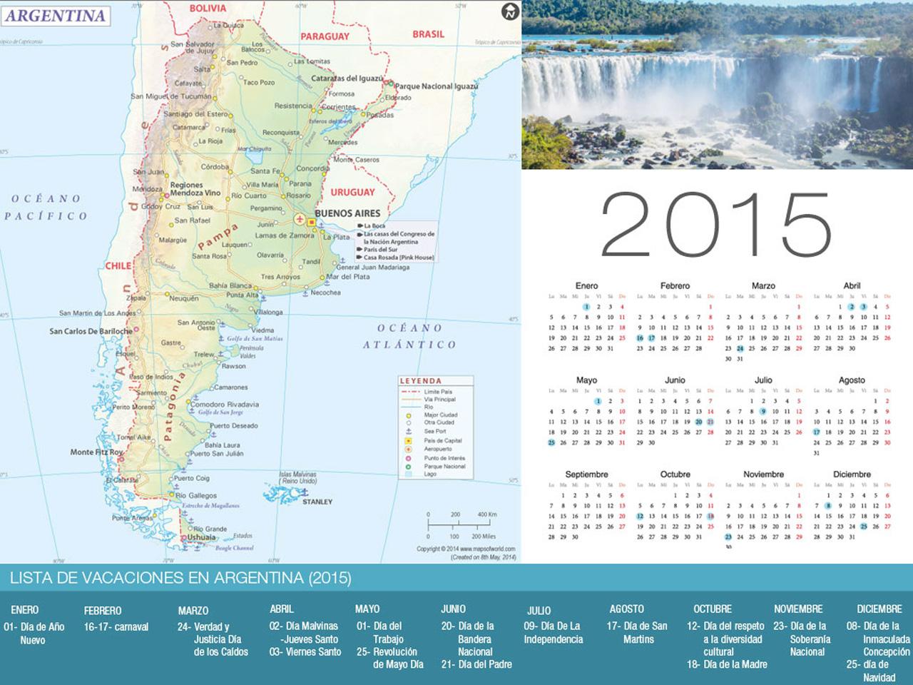 calendario de vacaciones argentina 2015