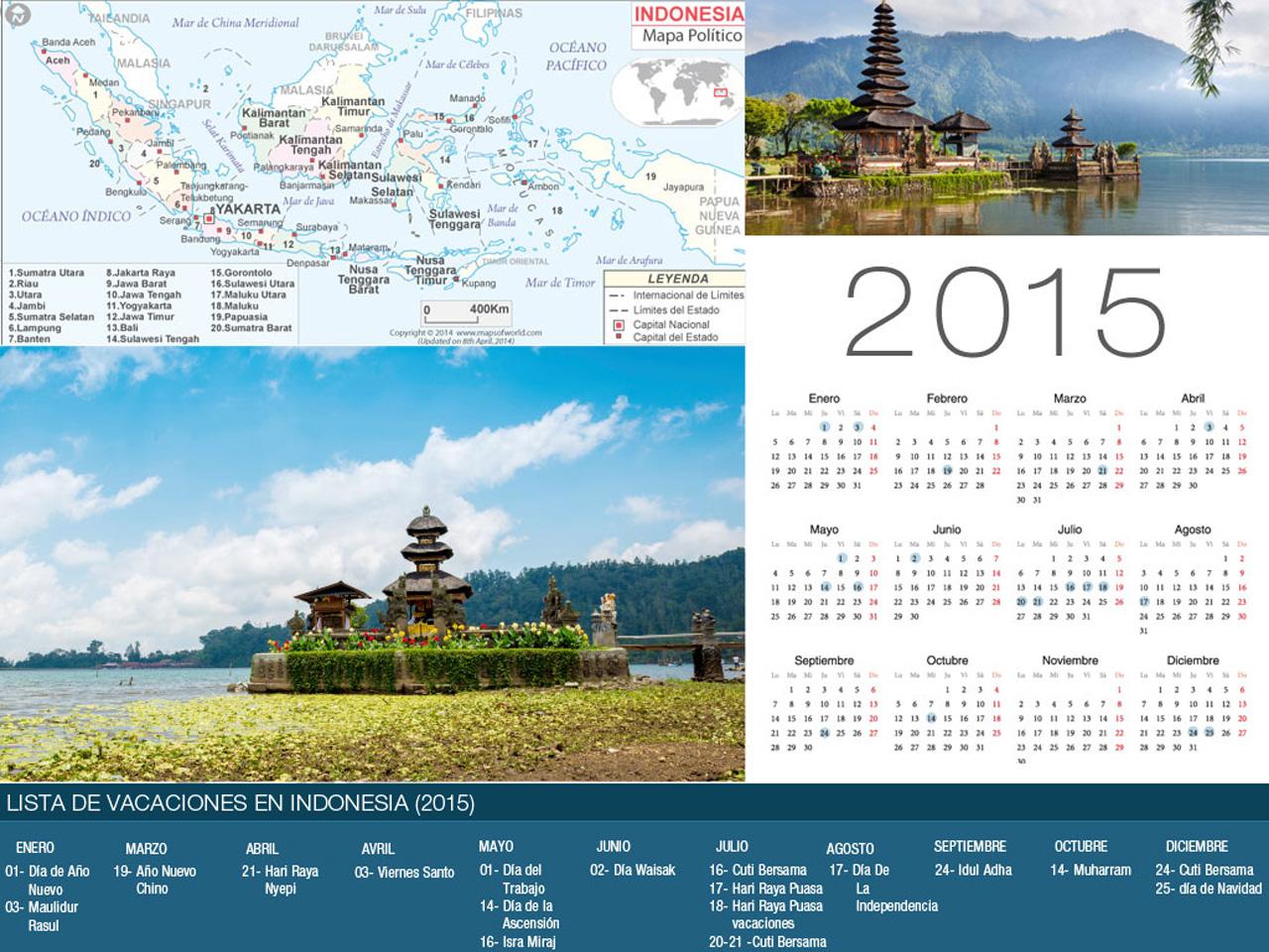Calendario Indonesia Holiday