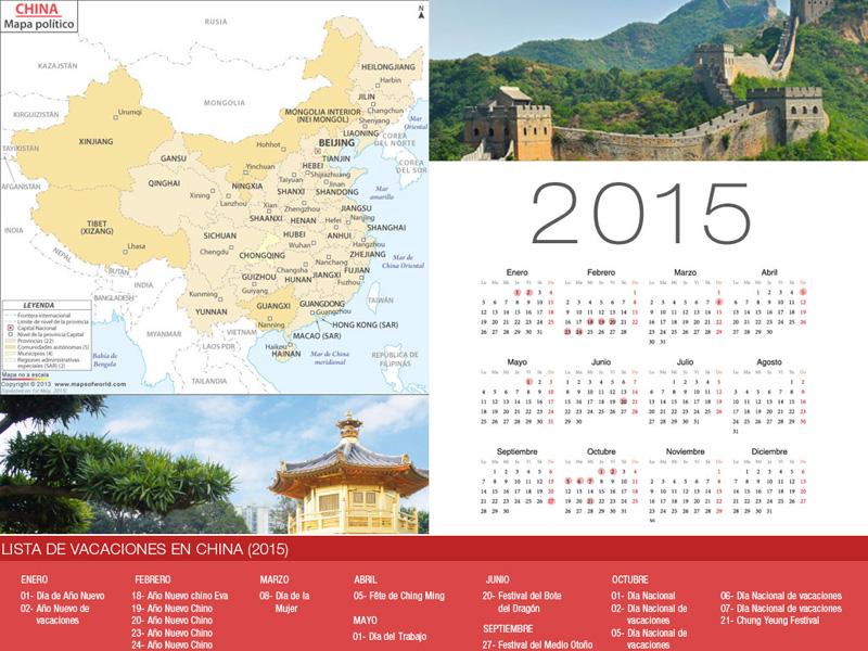Calendario de China de vacaciones 2015-800x600
