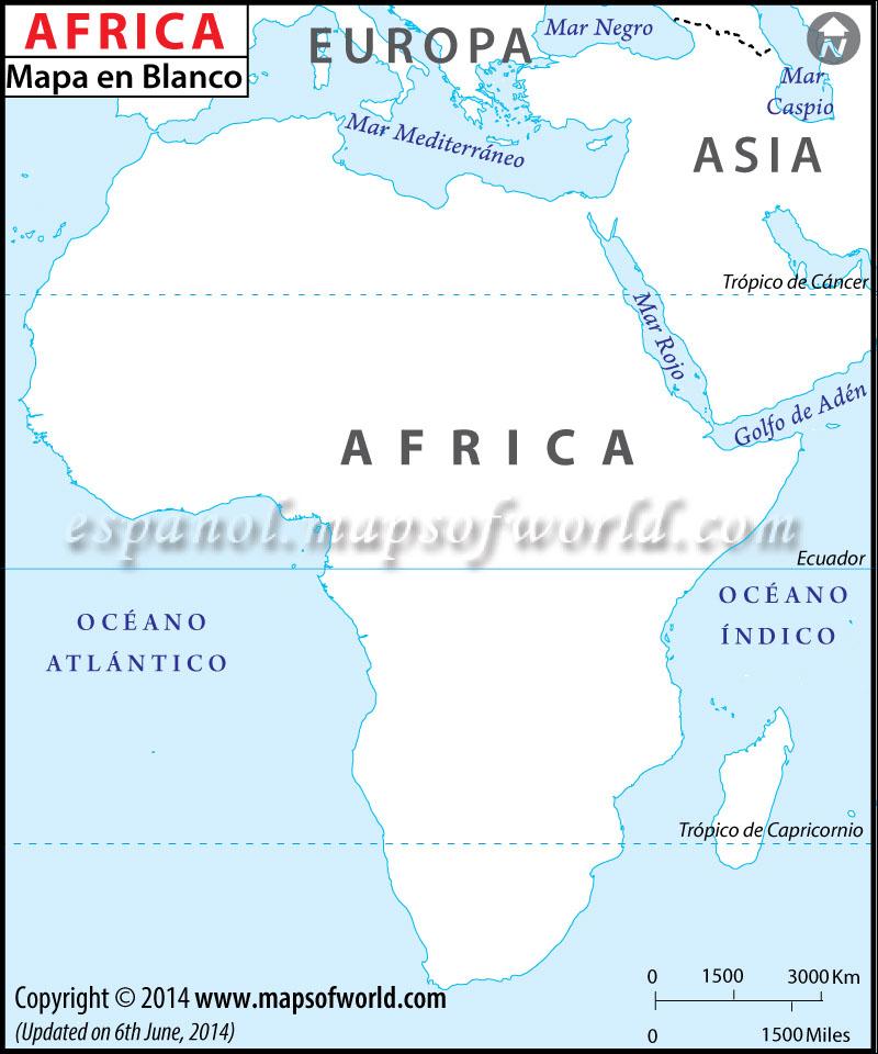 Mapa de Africa en Blanco