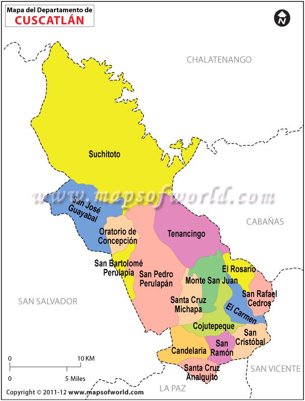 Mapa de Cuscatlan
