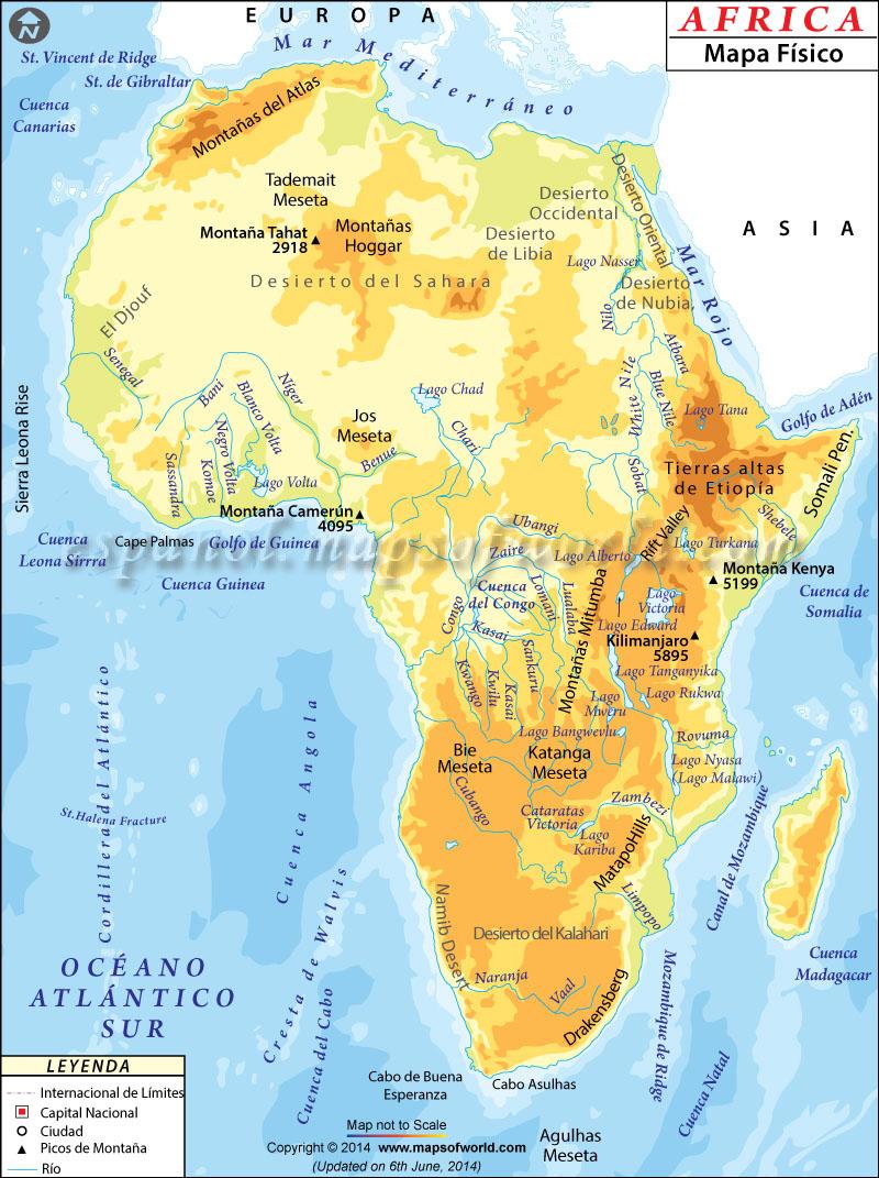 Fisico de Africa