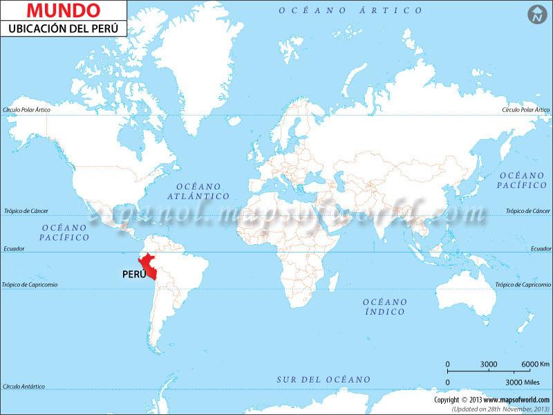 Mapa de Ubicación de Perú