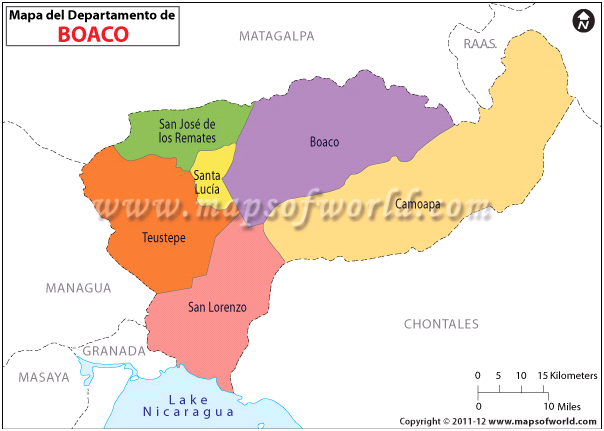 Mapa de Boaco