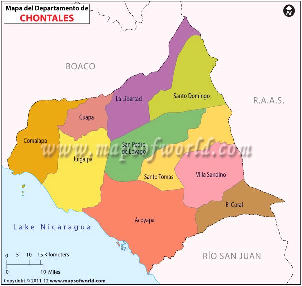 Mapa de Chontales