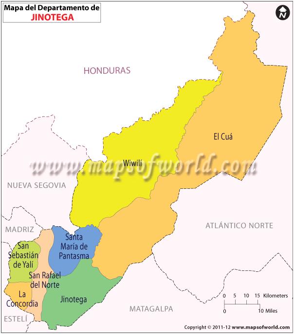 Mapa de Jinotega