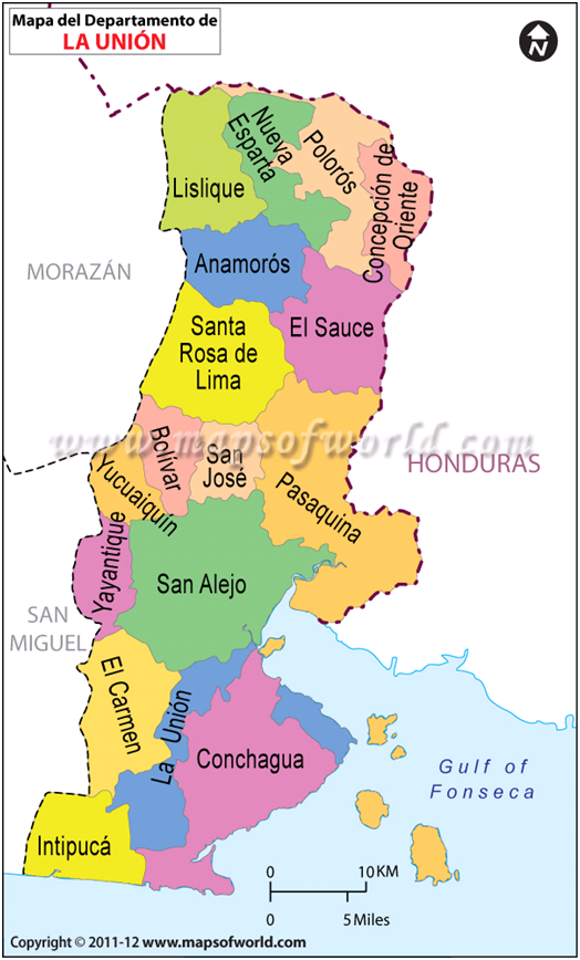 Mapa de La Union