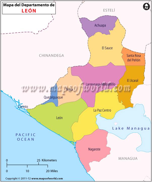 Mapa de Leon Nicaragua