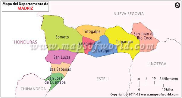 Mapa de Madriz