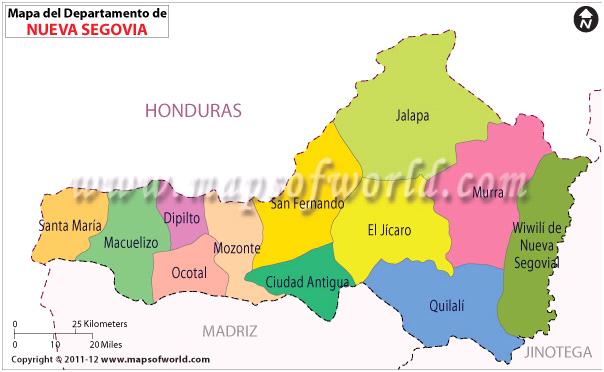 Mapa de Nueva Segovia