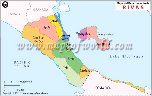 Mapa de Rivas