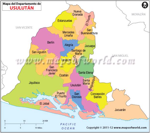 Mapa de Usulutan