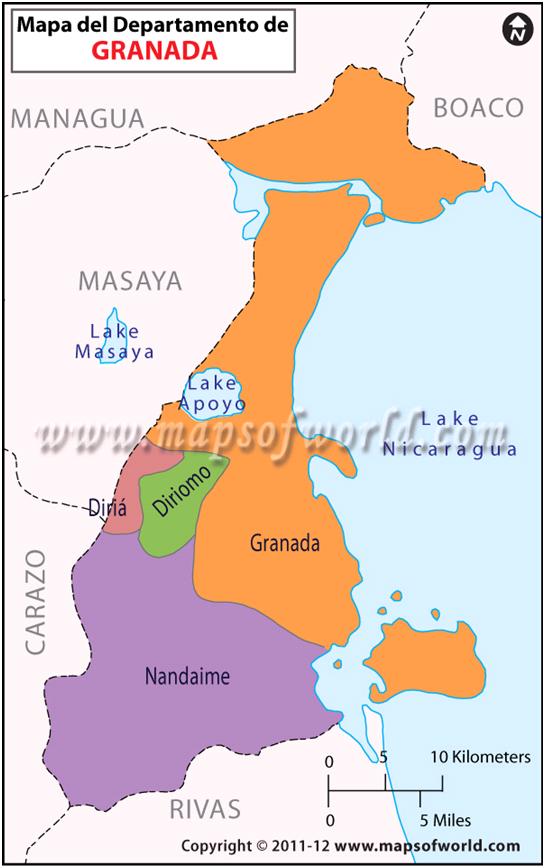 Mapa del Departamento de Granada