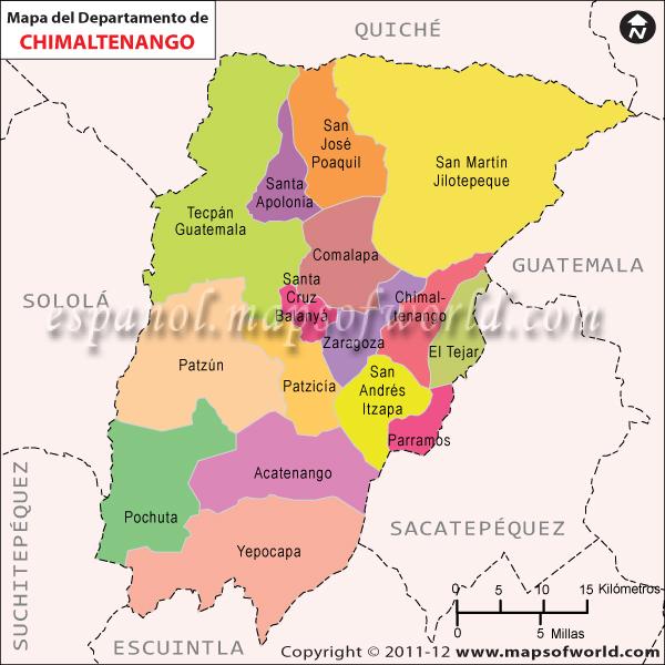Mapa de Chimaltenango
