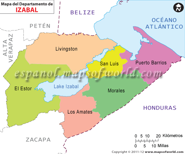Mapa de Izabal