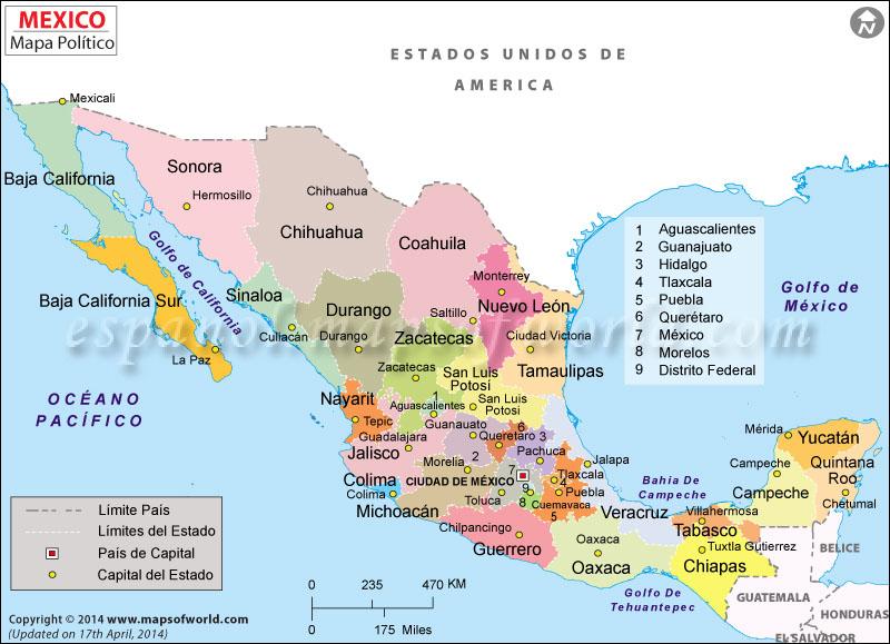 Mapa De Mexico Mapa Mexico - Mapa de mexico