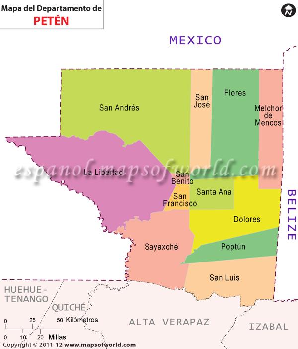 Mapa de Peten