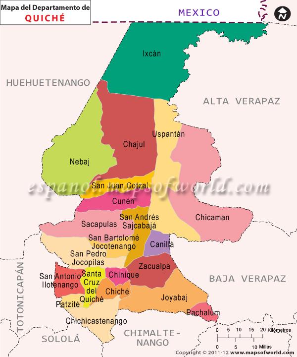 Mapa de Quiche