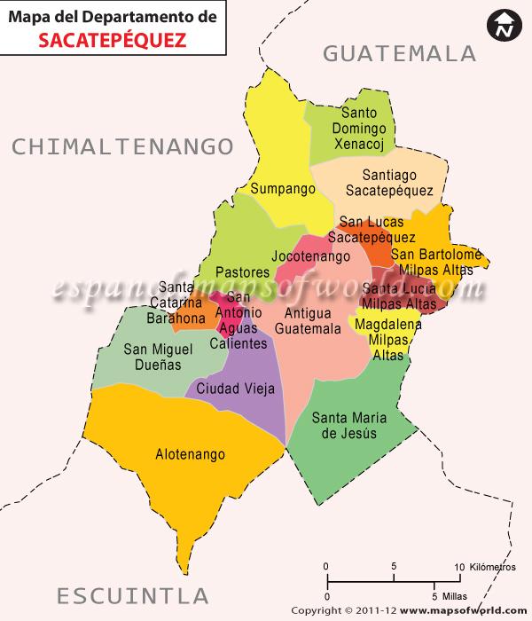 Mapa de Sacatepequez