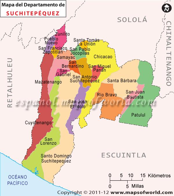Mapa de Suchitepequez