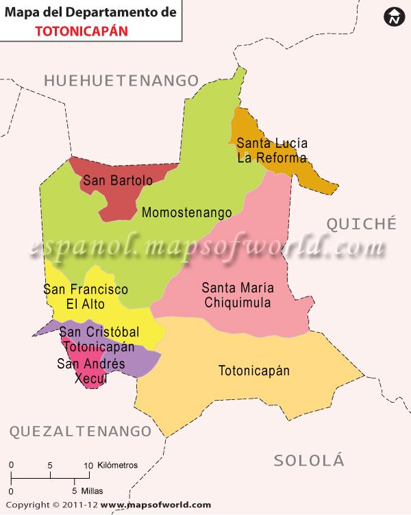 Mapa de Totonicapan