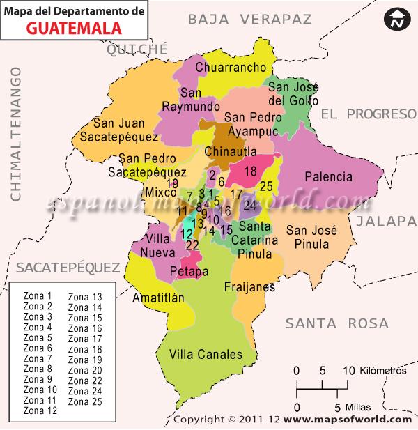 Mapa del Departamento de Guatemala