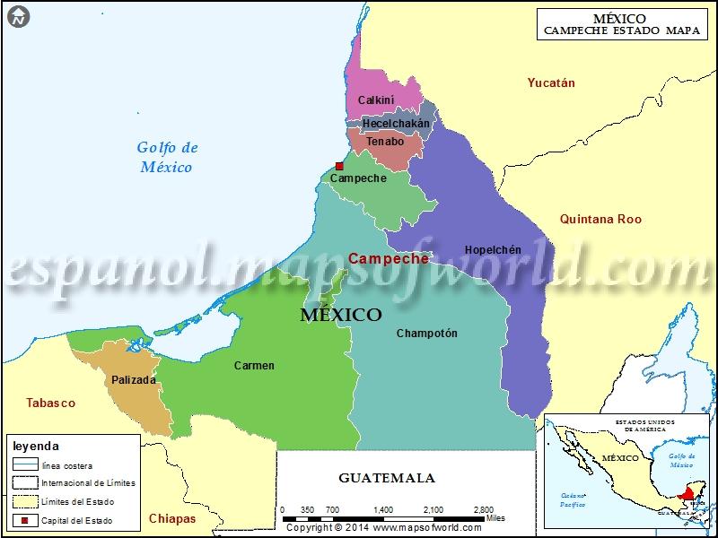 Mapa de Campeche