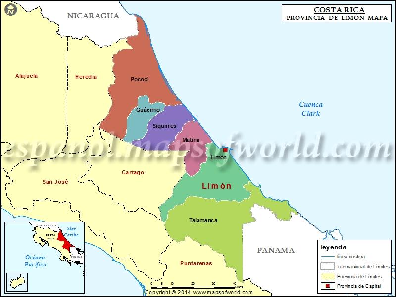 Mapa de Limon