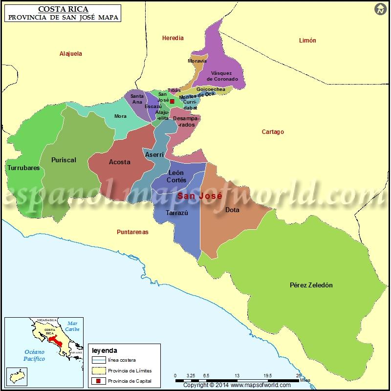 Mapa de Provincia de San Jose