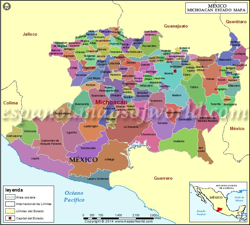 Mapa de Michoacan