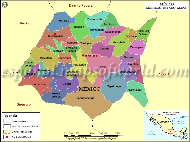 Mapa de Morelos