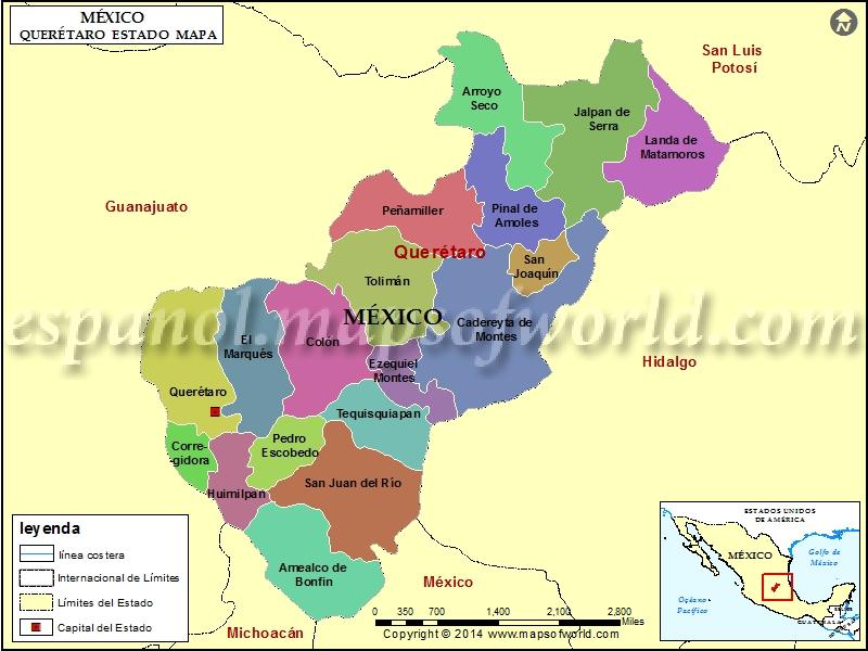 Mapa de Queretaro