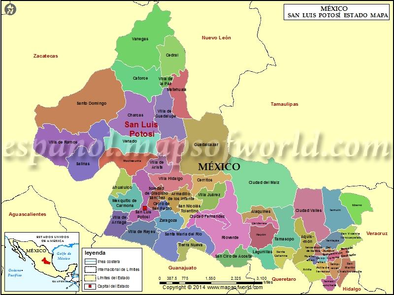 Mapa de San Luis Potosi