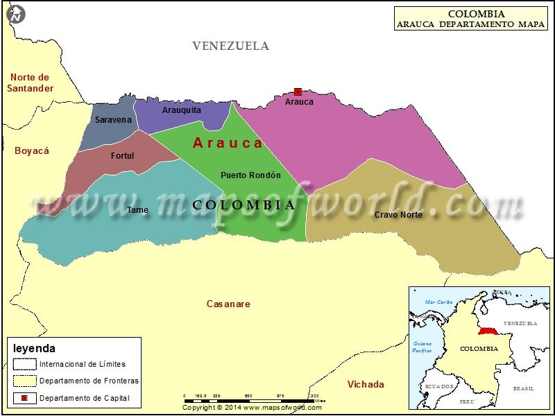 Mapa de Arauca  Departamento de Arauca Colombia