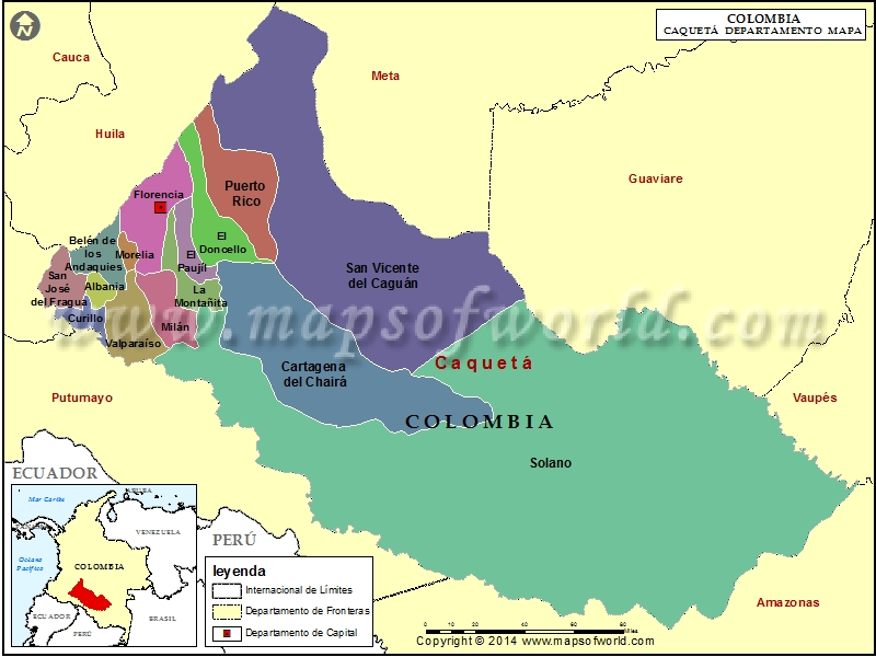Mapa de Caqueta