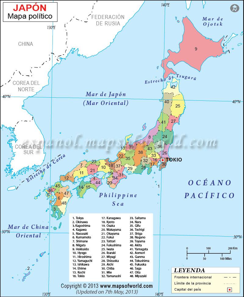 Mapa De Japon Ciudades.Mapa De Japon