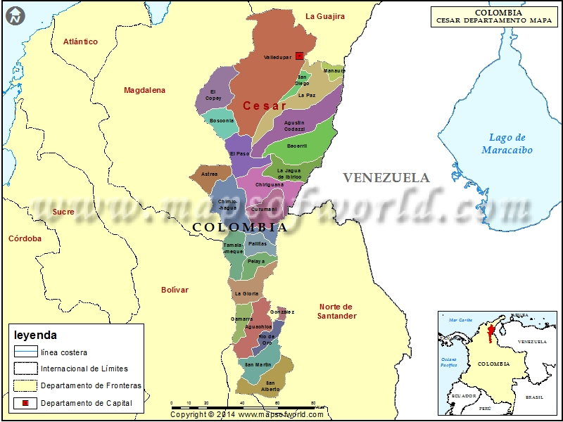 Mapa del Cesar