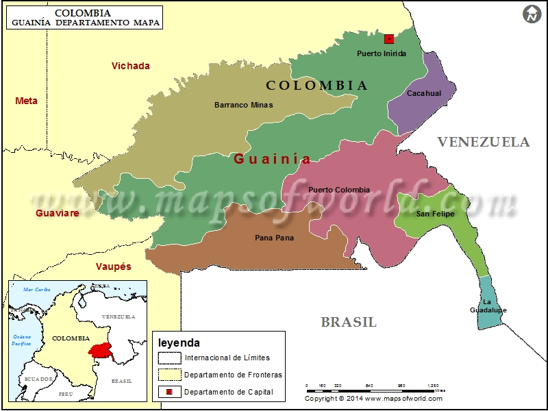 Mapa de Guainia